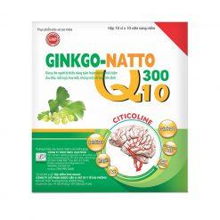 GINKGO NATTO 300 Q10 Hộp 10 vỉ x 10 viên nang mềm
